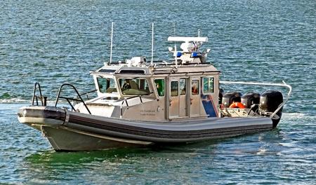 border patrol: A U.S. Customs and Border Protection Patrol Boat