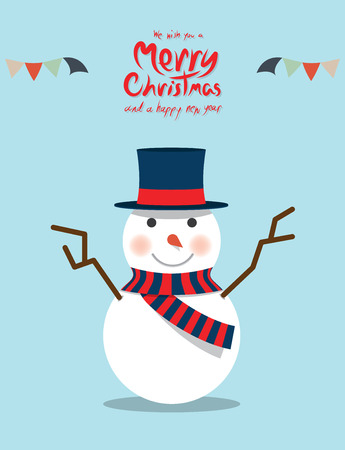 Snowman (Christmas Characters) Vector