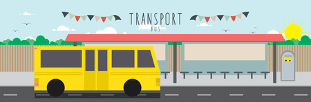 Bus (Transportation), Vector file useful about transportation. Çizim