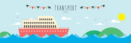 Ship (Transportation), Vector file useful about transportation.