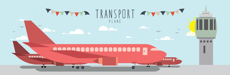 thoroughfare: Plane (Transportation), Vector file useful about transportation.