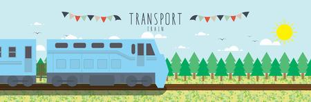 thoroughfare: Train (Transportation)Vector file useful about transportation.
