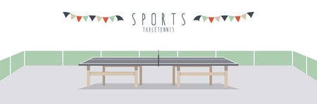 pursuit: Table Tennis (Sports), Vector illustration of a table tennis.
