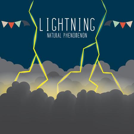 Vector Illustration of thunderbolt and lightning. Vector