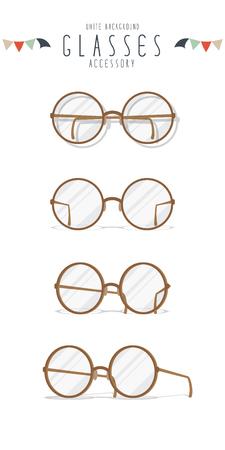 wayfarer: Vector Illustration of sphere eyeglasses action. Illustration