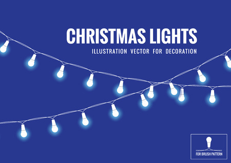 christmas lights: Christmas Light Illustration Vector For Decoration.