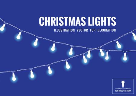 Światła: Christmas Light Vector Ilustracja do dekoracji.
