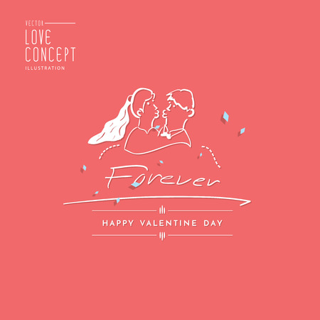smooch: Illustration vector type design about love for invitation card or other flat style. Illustration