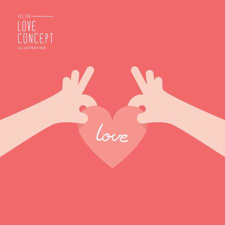 retained: Ilustración vectorial mano está sosteniendo un corazón que se da o se recibe o se retiene estilo plano. Vectores