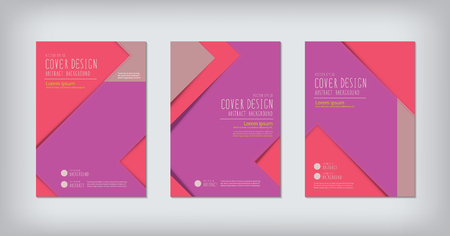 graphic display cards: Business report zigzag design cover.