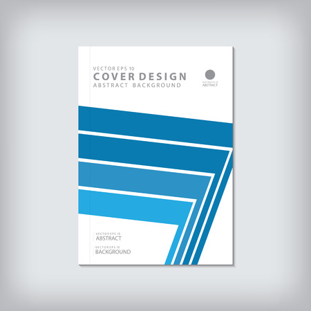 bar line: Brochure template layout, cover design annual report, magazine, flyer or booklet in A4 with blue geometric shapes bar line background. Vector Illustration.