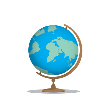 meaningful: Illustration globe model for learning many things about the world or about a meaningful international on white background.