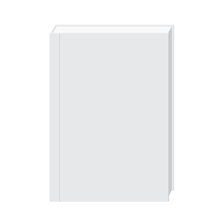hardcover: blank hardcover white book stand mock up. Mock Up Concept. Illustration