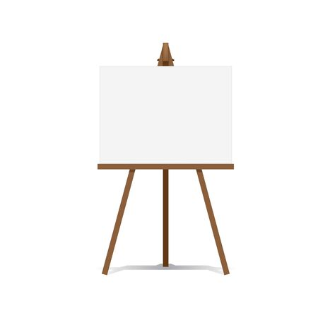 Art Easel and blank canvas space ready for your advertising and presentations illustration.