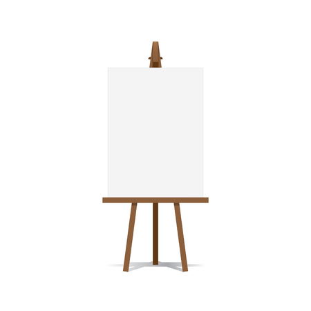 blank canvas: Art Easel and blank canvas space ready for your advertising and presentations illustration.