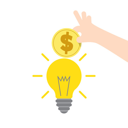 expenditure: Illustration vector saving money and spending for creative or electric. Finance Concept.