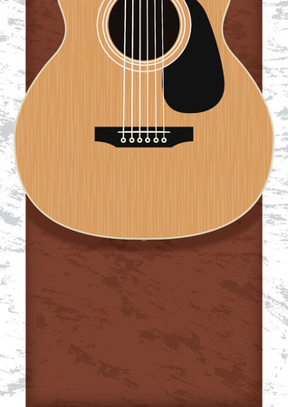 a4 background: Guitar, Musical instrument design realistic style and A4 background poster music for commercial vector. Musical instrument and music concept.
