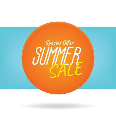 buy now: Summer Sale heading design like the sun for banner or poster. Sale and discounts.