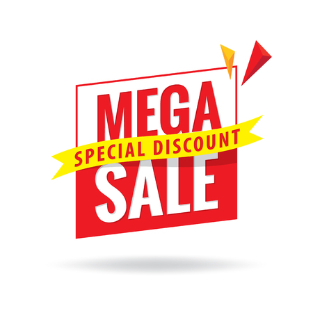 Mega Sale heading design for banner or poster