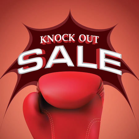 Knock out sale heading design for banner or poster. Sale and Discounts Concept. Vector illustration. Иллюстрация