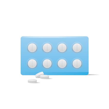 Pills medicine panel illustration vector on white background. Medical concept.