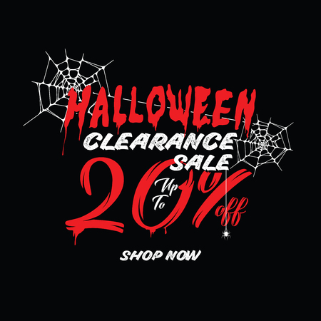 Halloween Clearance Sale Vol.1 20 percent heading design for banner or poster. Sale and Discounts Concept.