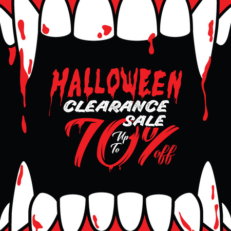 Halloween Clearance Sale Vol.3 70 percent heading design for banner or poster. Sale and Discounts Concept.
