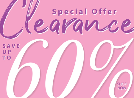 Vol. 5.2 Clearance Sale 60 percent heading design for banner or poster. Sale and Discounts Concept. Ilustração