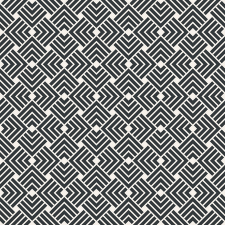 Square superimposed seamless abstract pattern monochrome or two colors vector