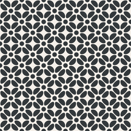 Flower abstract seamless pattern monochrome or two colors vector