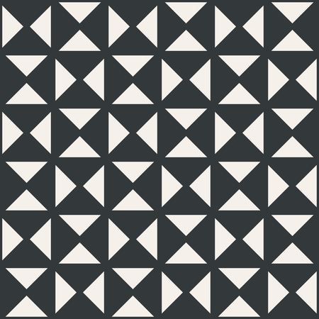 Triangle in table square or net abstract seamless pattern monochrome or two colors vector