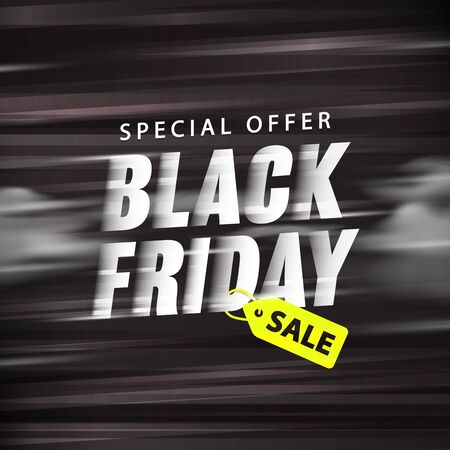 Black friday sale promotion website banner heading design on graphic purple background vector for banner or poster. Sale and Discounts Concept.