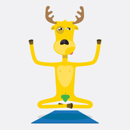 humanoid: humanoid yellow elk in the daily chores Illustration