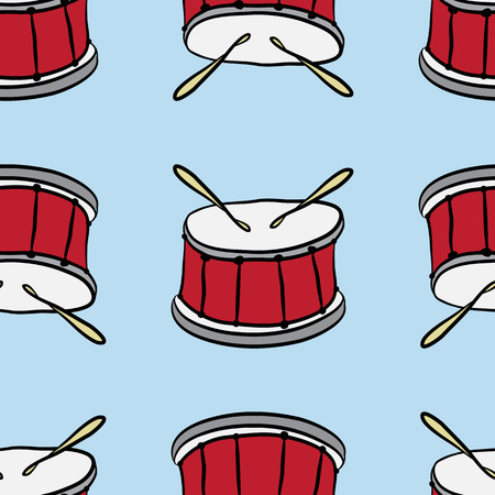 red drum: seamless pattern of red drum solo on a blue background