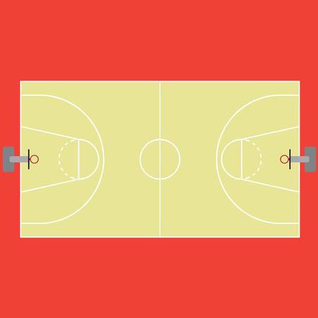 tanktop: basketball court markings and borders Illustration