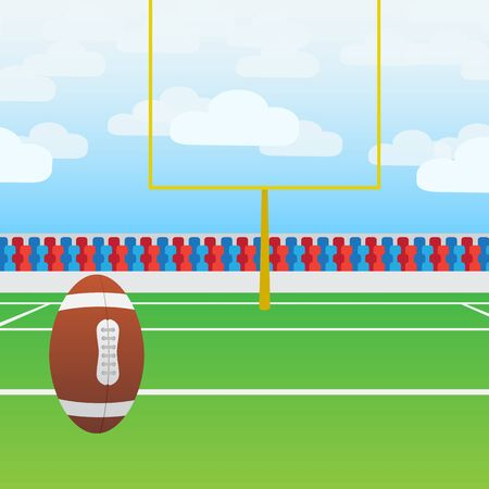 gridiron: American football on target to get points Illustration