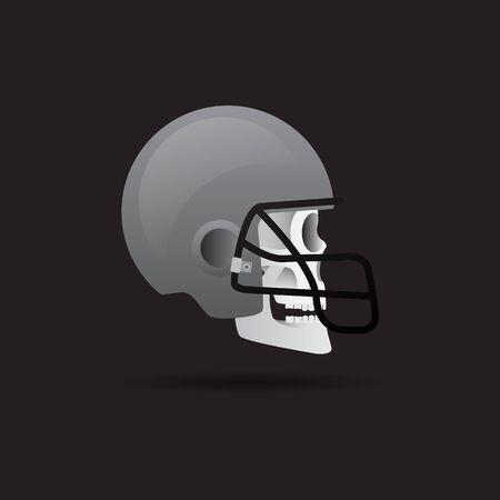 football helmets: icon skull Football Helmets on a dark background