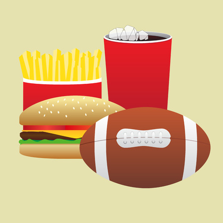 game meat: fast food in the match for the spectators Illustration