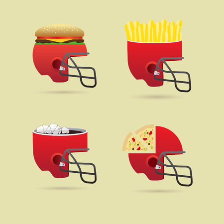 spectators: fast food in the match for the spectators Illustration