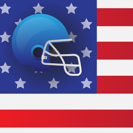 football helmets: Football Helmets in the flag of America