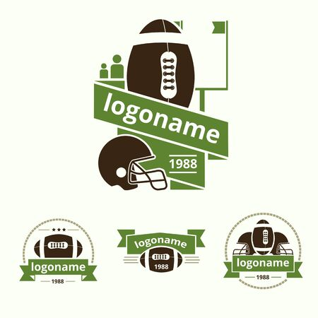 set of icon for American Football Vector