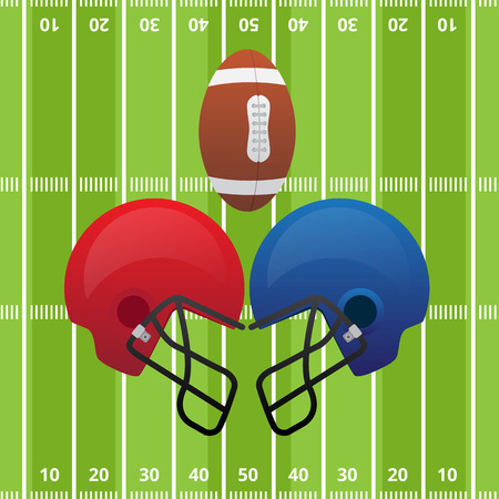 confrontation: confrontation between two teams of American football