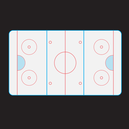 ice surface: the partitioning of the top ice hockey rink Illustration