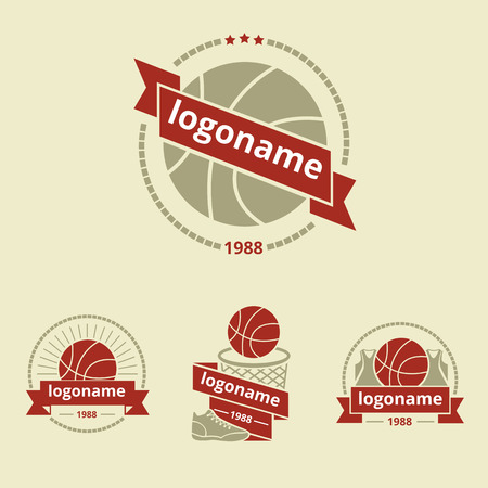 nba: set of logos for basketball