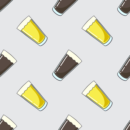 beer tulip: seamless pattern with beer Illustration