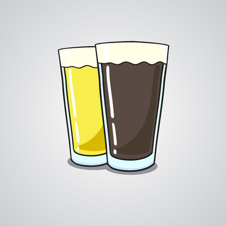 beer tulip: seamless pattern with beer dark and light