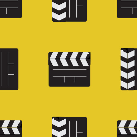 seamless pattern firecrackers for the movie on a yellow background Vector