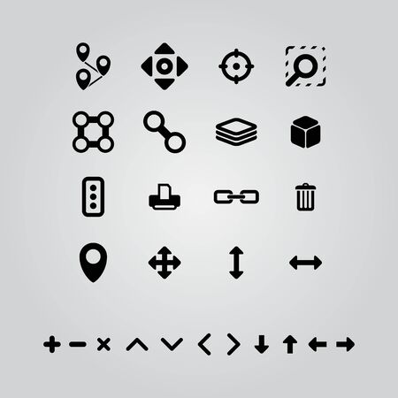 flat icons for online maps Vector