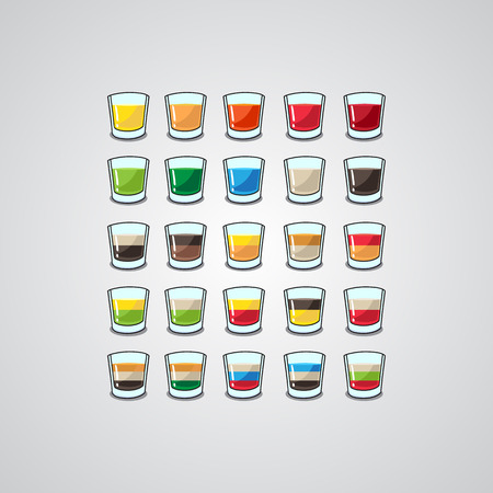 orgasm: set of two-layer sandwich and mixed shots