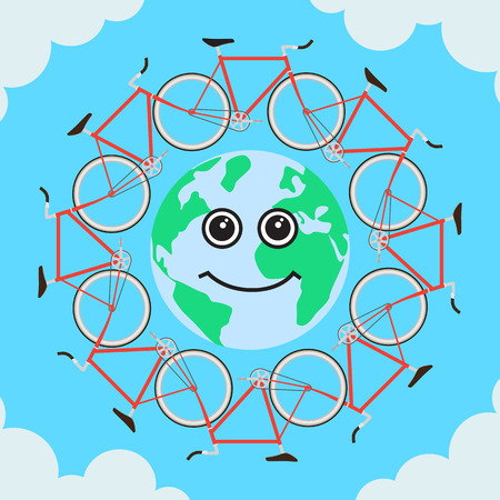 Ecological Transport will help protect the planet Vector